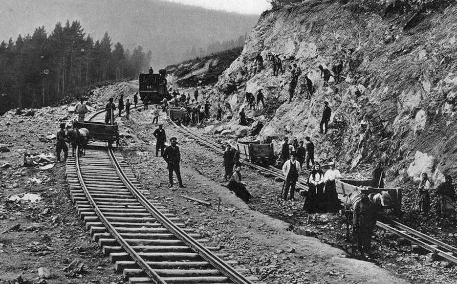Транссиб. Прокладка железной дороги .